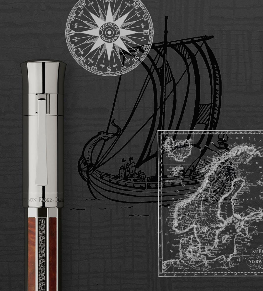 Garf von Faber-Castell - Pen of the Year 2017 - Wikinger - Füllhalter und Boot