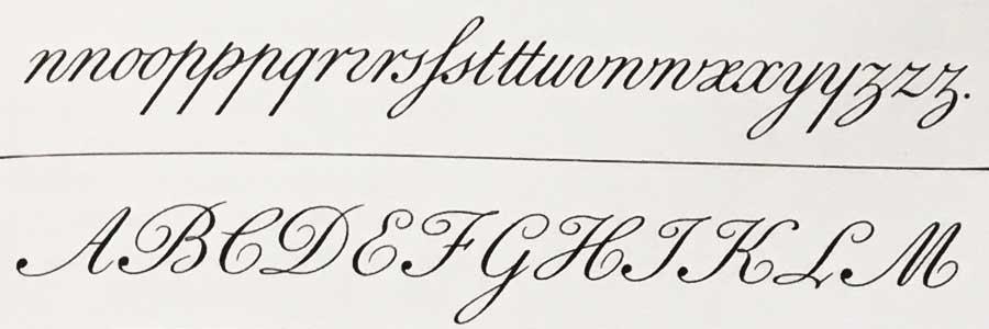 Kalligrafie - Schriftprobe