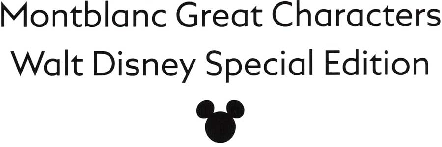 Montblanc Walt Disney Great Character 2019