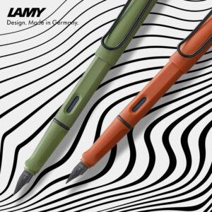 Lamy Safari Füllhalter - savannah-green & terra-red