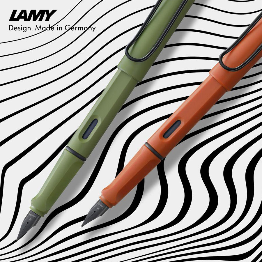 Lamy Safari Füllhalter - savannah-green & terra-red