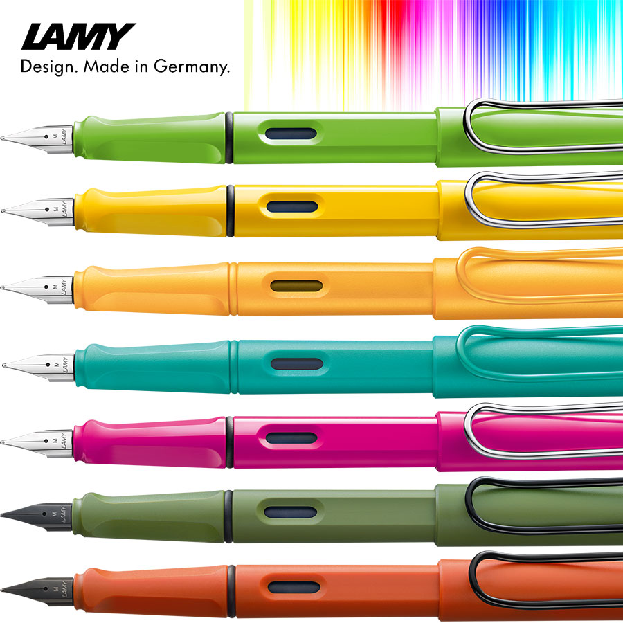 Lamy Safari Füllhalter - farbenvielfalt